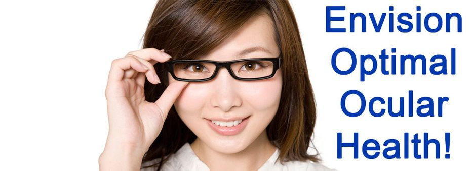Envision Optimal Ocular Health! - Young girl with glasses.
